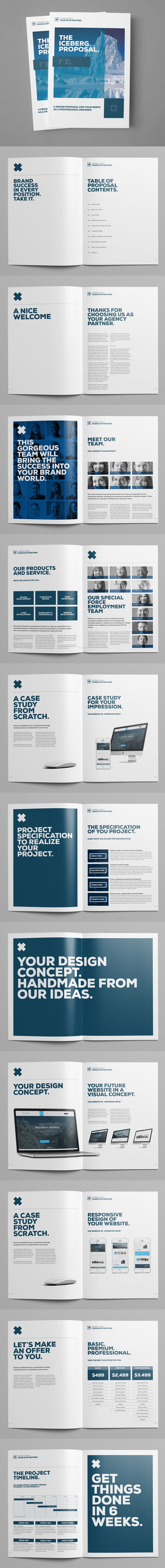 Minimal Proposal Brochure Template INDD, PSD - 28 Custom Pages, A4 and US Letter Size