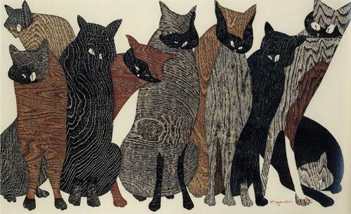 Kiyoshi Hasegawa  斎藤清「競艶」1973年