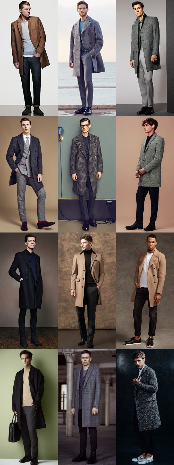 Men's Overcoats Outfit Inspiration Lookbook