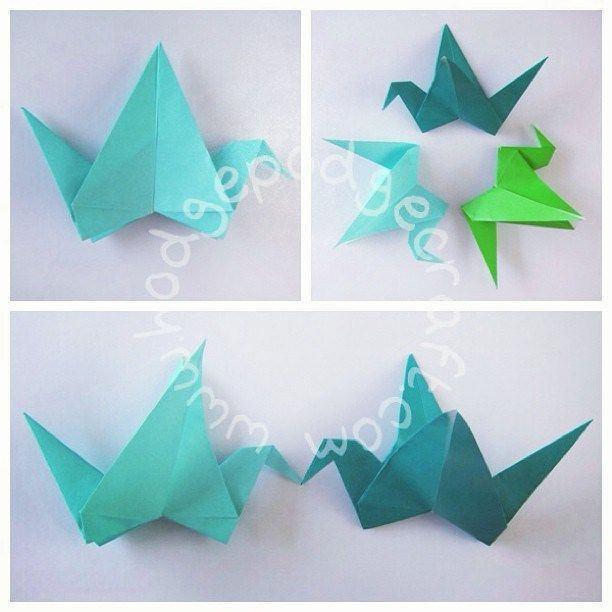 Hodge Podge / Craft ideas for kids: Origami flapping bird tutorial