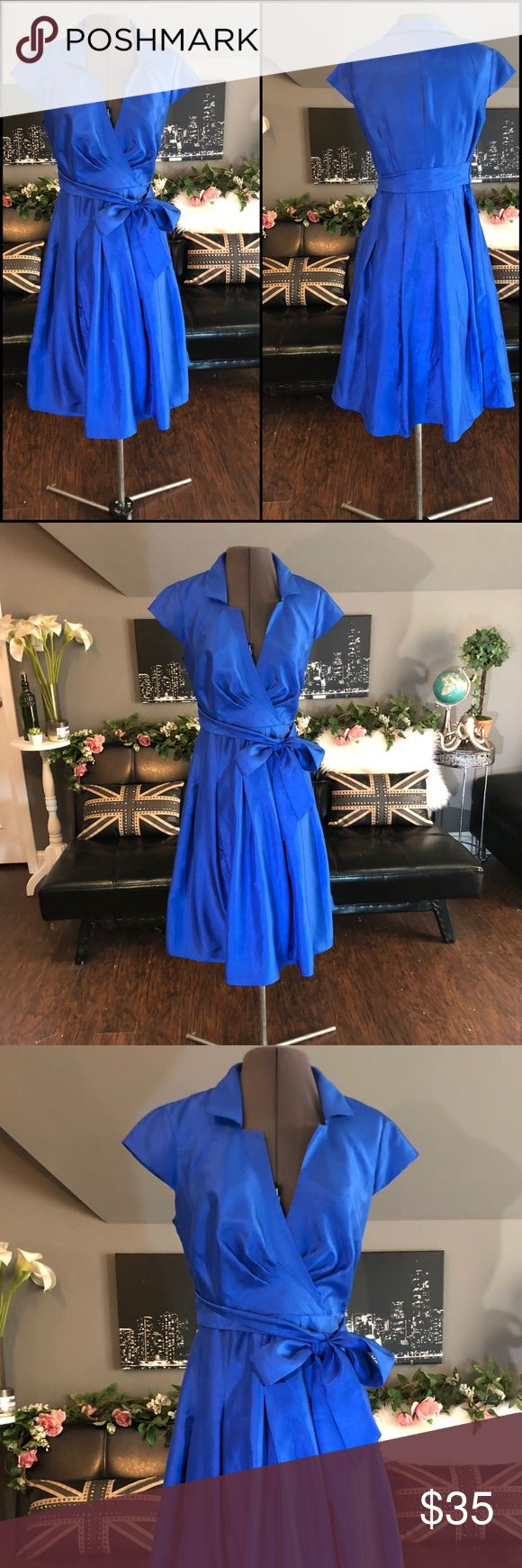 Kim Rogers Classy Electric Blue Flair Skirt Dress Kim Rogers  Size 6  Electric Blue  Flair Skirt  Well Lined  Quality material  Not thin or see through  Comfortable  Not stiff.  Easy to move or sit in. Kim Rogers Dresses Wedding