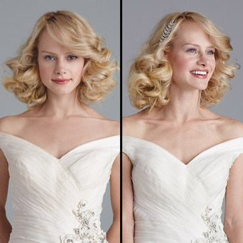 Hairstyles That Work With Your Gown's Neckline : Brides