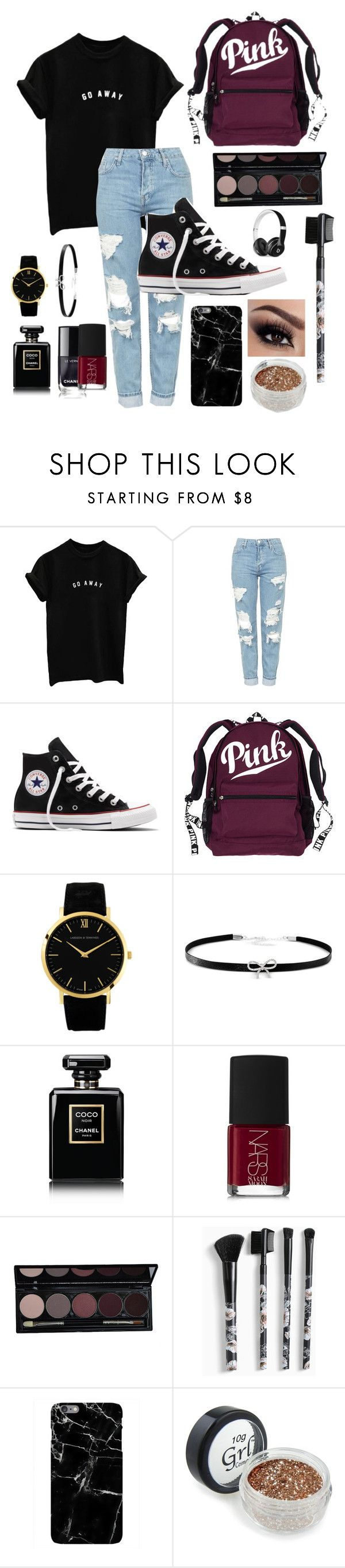 """"""""""" by libbyking ❤ liked on Polyvore featuring Topshop, Converse, Giani Bernini, Chanel, NARS Cosmetics, Torrid and Beats by Dr. Dre"""