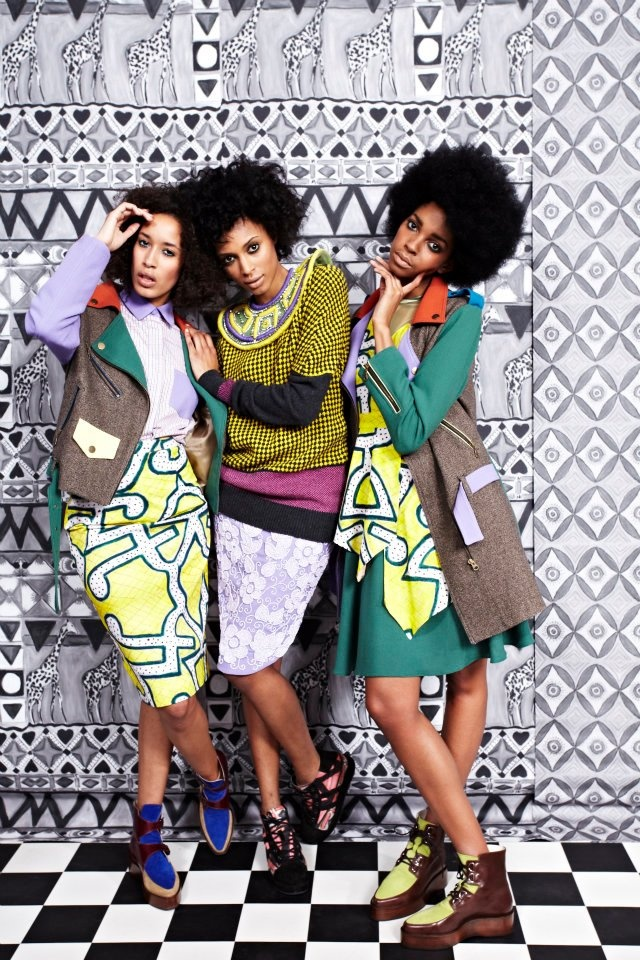 Tata Naka's African Inspired A/W 2012 Collection at London Fashion Week.