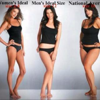 I had no idea most men preferred size 12 women..