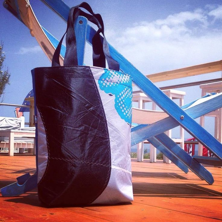 the Wave Club Tote bag, summer 2016 thinkSea collection. #thinksea #unique #handcraft #summer2016 #totebag #used #reused #recycle #upcycling #upcycled #urban #customize #parosurfclub #parosurfshop #tserdakia #paros #summer #colorful #shopping #madeingreece #windsurfing #sails #kiteboarding