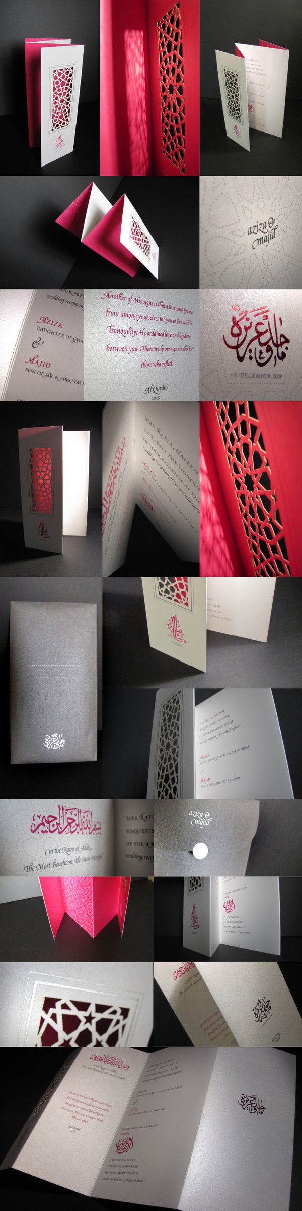 The Wedding ➔ INVITE DESIGN by Aziza Iqbal, via Behance