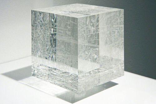 Marco Maggi, Drop, 2012 (Acrylic block incised)