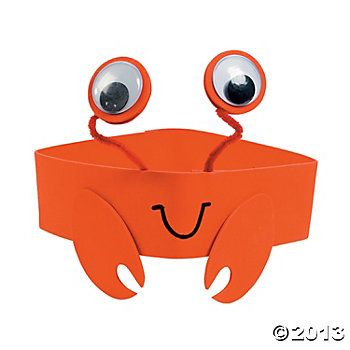 Crab Headband Craft Kit. may be cute for younger ones.