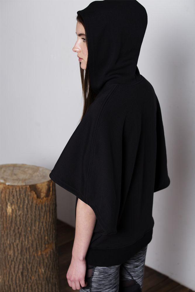 PRINTEMPS CAPE HOODIE, BLACK// SHOP NOW:https://aumnie.com/product/printemps-cape-hoodie-black/