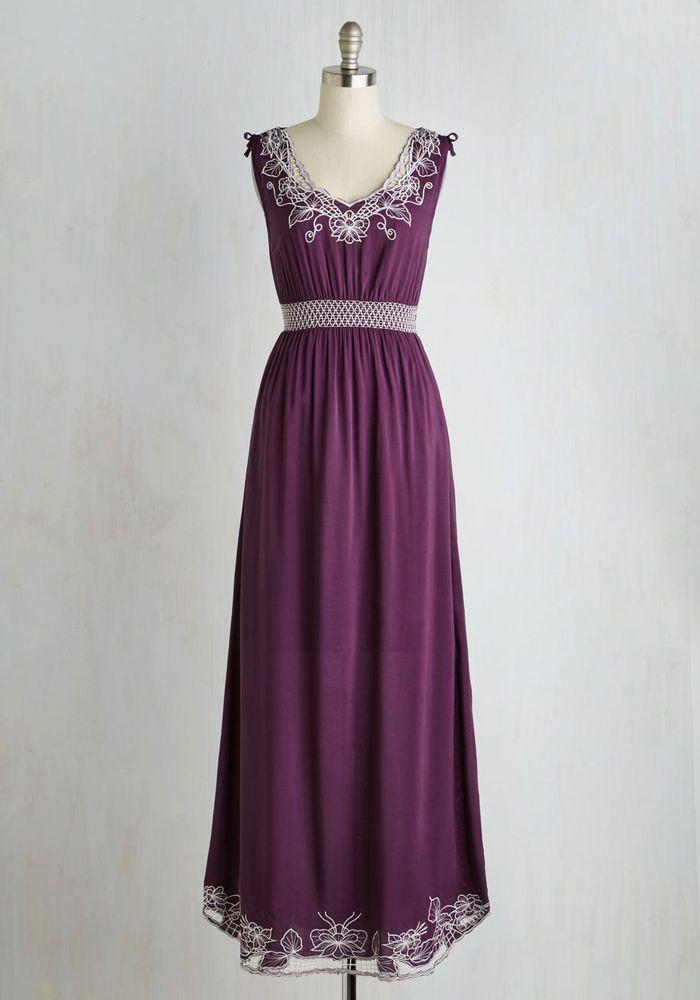 Sunny Girl Plum Purple Plus Size 4X Floral Embroidered Maxi Dress Bohemian  | eBay