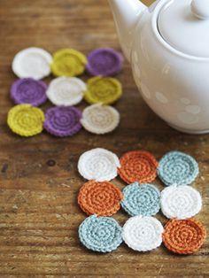 色あわせを楽しむあったかコースター☆かぎ針編みレッスンのお知らせ | Ouvrir