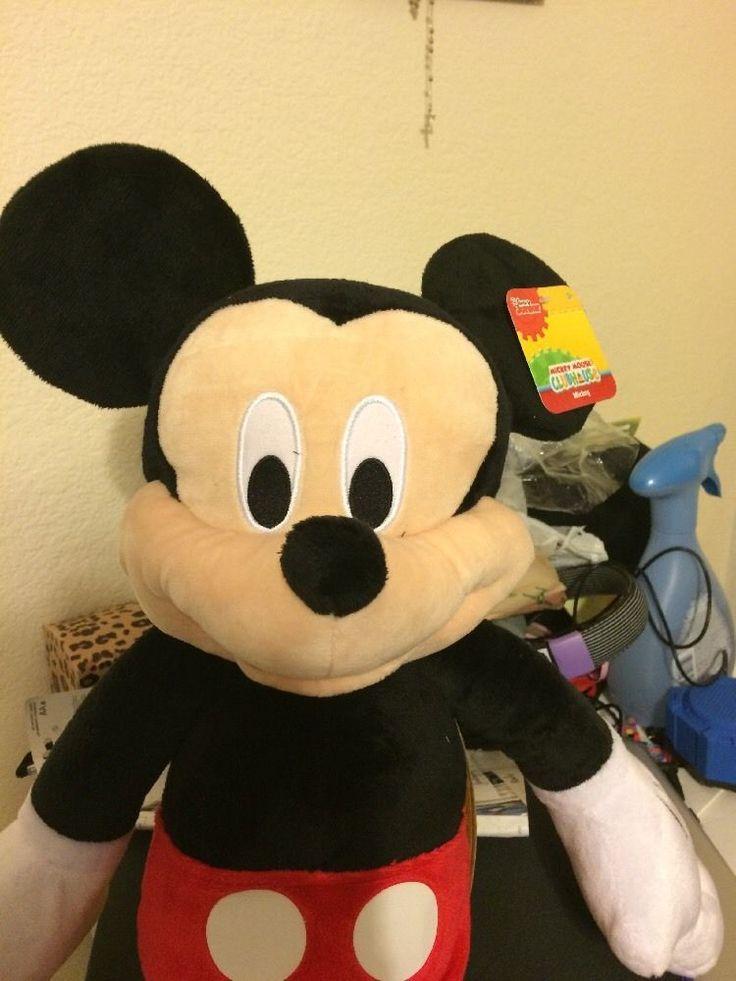 "MICKEY MOUSE PLUSH LARGE 25"" DISNEY STUFFED ANIMAL DOLL TOY NEW #Disney"