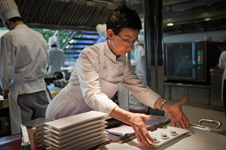 The chef Carme Ruscalleda has six Michelin stars, more than any other woman in the world. In the kitchen of her restaurant Sant Pau, north of Barcelona. -NYTimes