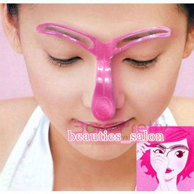 Wear this with your nose shaper for a Complete Look!!.... ||•||   Easy Eyebrow Makeup Template Fast Drawing Eyebrow Cosmetic Tool