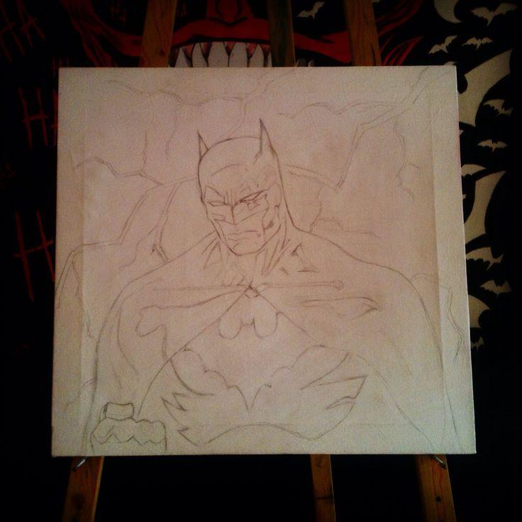 Batman Painting Art Dc Comics
