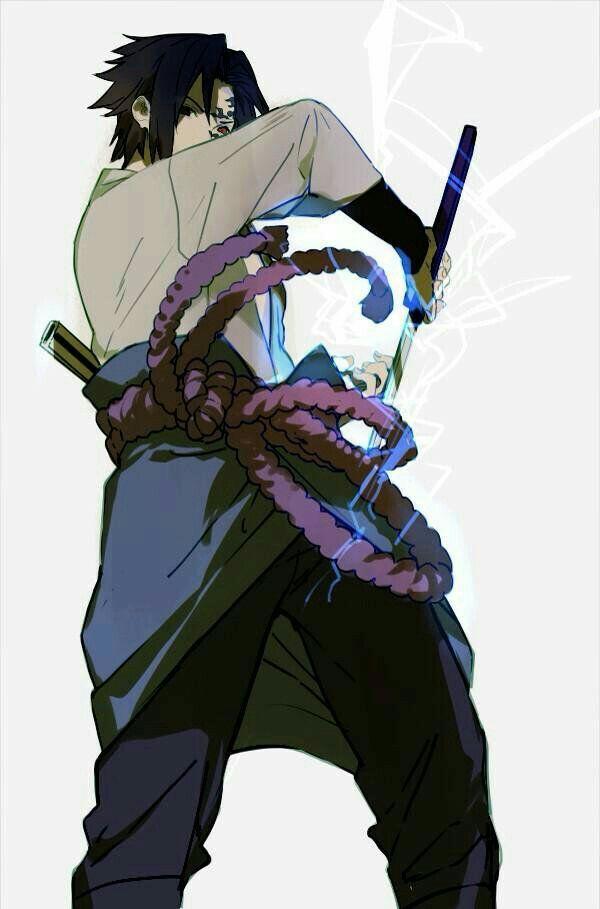 Sasuke Curse Mark Chidori Drawings