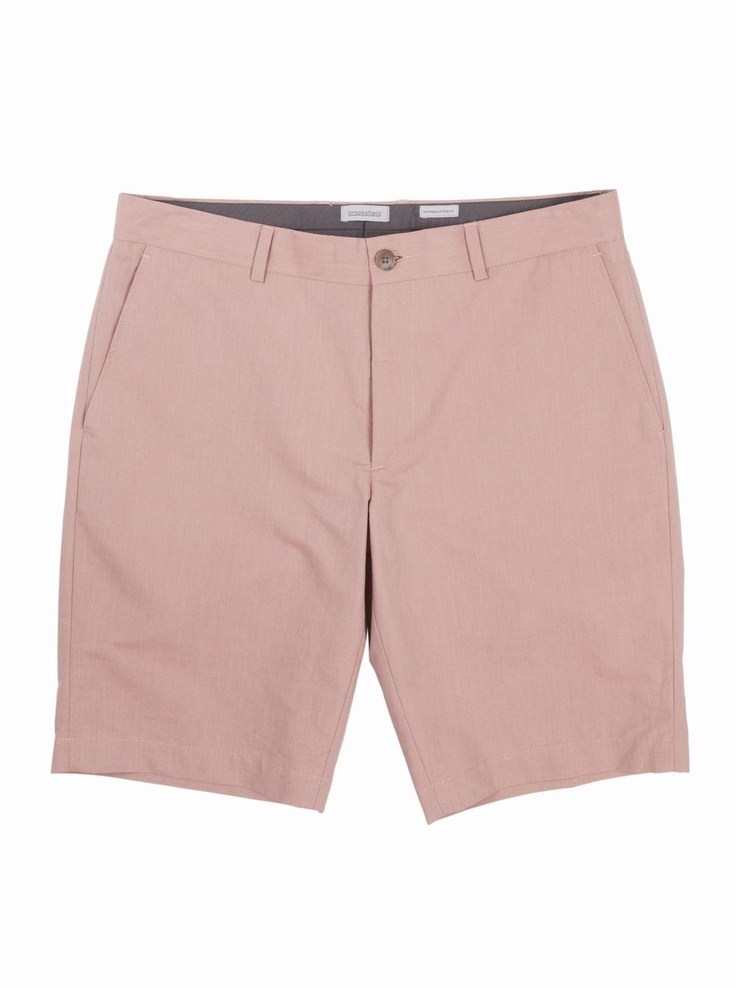 brooksfield Charles Double Cotton Shorts in watermelon.