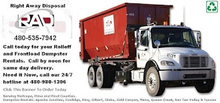 Arizona Trash Disposal Services: Roll Off Dumpster Rentals Coolidge Uses