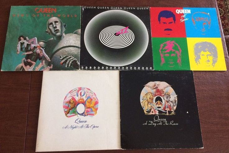 Queen 5LP LOT A Night At The Opera Day At Races News Of The World Jazz Hot Space
