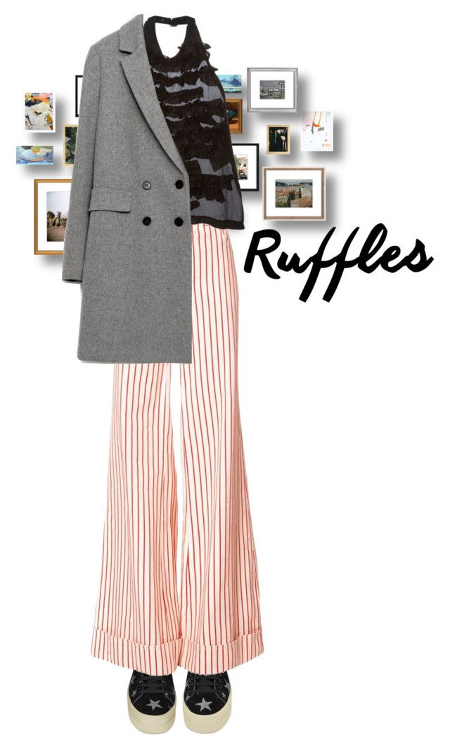 """""""Daily queen"""" by dantevandenabeele ❤ liked on Polyvore featuring Yves Saint Laurent, Rosie Assoulin and Comme des Garçons"""
