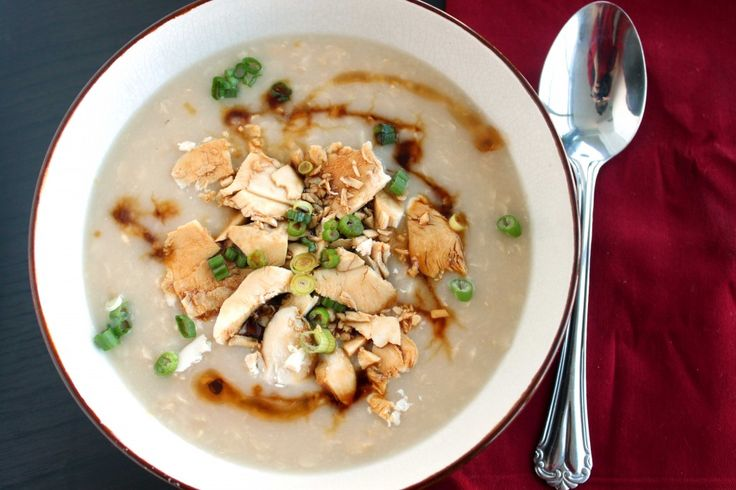 Brown Rice Congee with Chicken