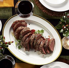 Slow-Roasted Beef Tenderloin with Double-Mushroom Ragoût