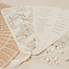 Would be great for wedding programmes s you could use these as a fan - Charleston Affair Wedding Stationery