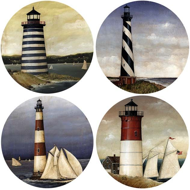 New Lighthouses Set of 4 Coasters