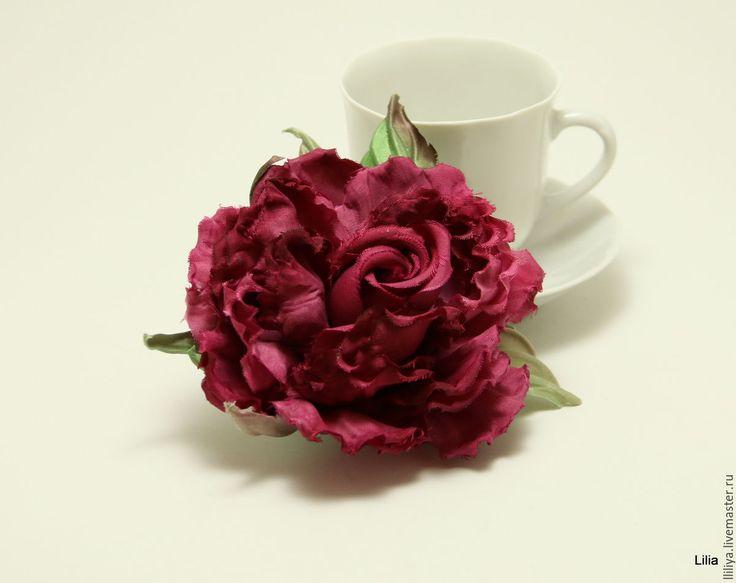 """Купить Цветы из шелка. Роза """"Дольче Вита"""" - lazarevaliliya, flowers, handmade, цветы из шелка"""
