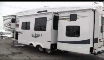 2012 Used Jayco Eagle 365BHS Fifth Wheel in New York NY.Recreational Vehicle, rv, 2012 Jayco Eagle 365BHS, JAYCO QUALITY - EXCELLENT CONDITION and WELL Maintained. ****FINANCING AVAILABLE**** 5th Wheel with Bunk house and 2 Bathrooms! 4 Slides - Quad Bunkhouse with Separate 1/2 Bath 1 Owner - NON SMOKING Rubber is Excellent -- GOODYEAR Marathon Tires 1.5 Baths - Sleeps 8 - Memory Foam Master Bed 2 Flat Screen TVs - Outdoor Speaker System CareFree Slide Toppers -- Dual A/C Units Freestanding…