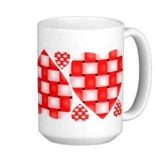 Braided Red Hearts CC0266 Coffee Mug