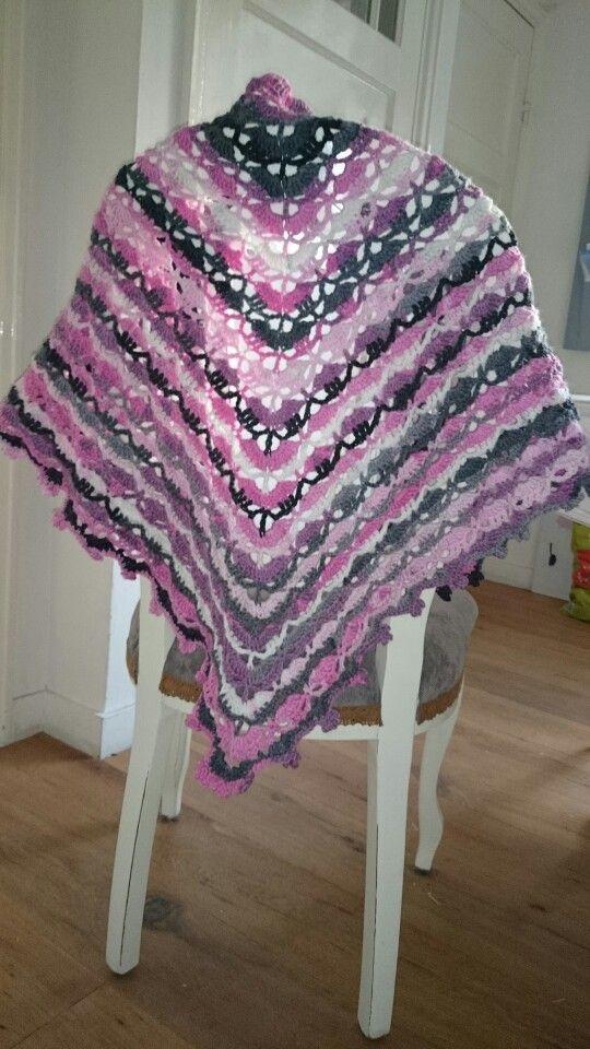 South bay shawlette crochet shawl