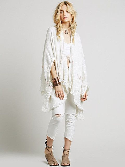 Jastie Plus Size Floral Embroidered Women Kimono Cardigan 3/4 Sleeve Top Shawl Cape Coat Jacket Cloak Boho Loose Tops