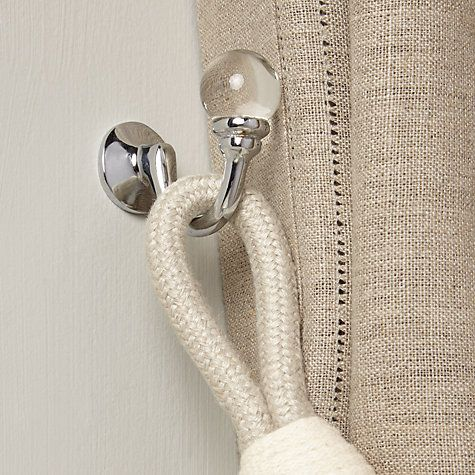 glass tie back hook for curtains