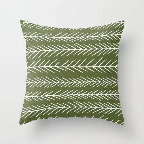 Pine tree pillow cover, cedar green pillow, forest pillow, graphic pillow, scandinavian pillow, cabin decor choose 30 colors