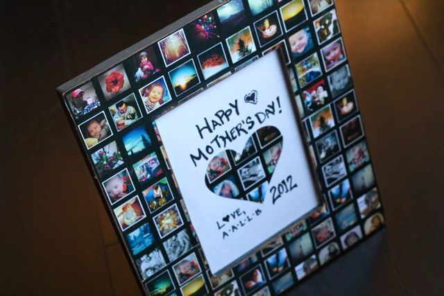 Monthly Diy Photo Collage Picture Frame Photo Crafts