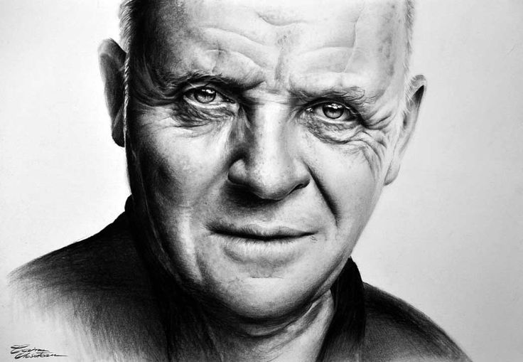Anthony Hopkins - Desen în Creion de Corina Olosutean // Anthony Hopkins - Pencil Drawing by Corina Olosutean