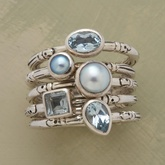 cool ring : Stackable Rings, Rings Sets, Unique Rings, White Shirts, Sterling Silver, Stacking Rings, Something Blue, Silver Rings, Blue Rings