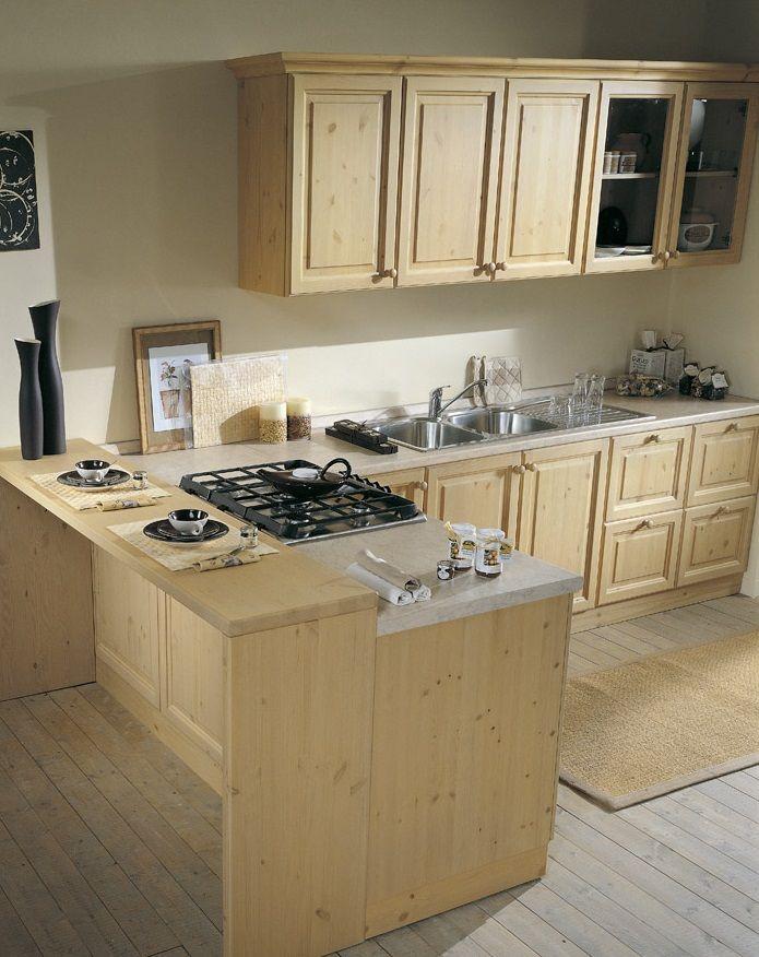 Cucina in legno massiccio componibile e personalizzabile su misura per ogni esigenza di spazio - Mobili per cucina componibile ...