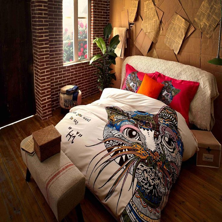 Colorful Cat 4 Pcs Bedding Set $223.99   #cat #catlover #cats #kitten #mainecoon #cutecat #kitty #kittens #meow #kitties Colorful Cat 4 Pcs Bedding Set  Wrinkle resistant and comfortable, this cat design bedding set will complete the look of your bedroom. The modern cat design with multi-colors pattern creates a nice ambiance you will love. Protect the cleanliness of your duvet and pillow in these beautiful cover. Cats bed cover are ready to accompany your sleep!  Details: Consist set of…