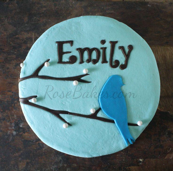 Blue Bird Cake + Easy Chocolate Chip Cake Recipe