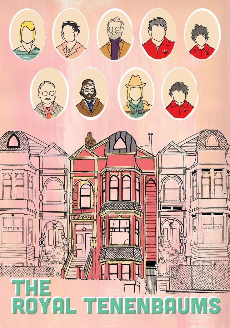 the royal tenenbaums movie poster // rachelle larocque... [http://paperfork-art.tumblr.com]