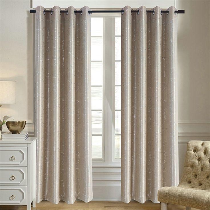 遮光カーテン オーダーカーテン 幾何柄 ベージュ 北欧風 3級遮光カーテン(1枚)