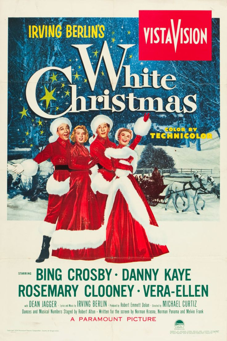 all time favorite christmas movie white christmas starring bing crosby danny kaye rosemary clooney and vera ellen - Classic Christmas Movies List
