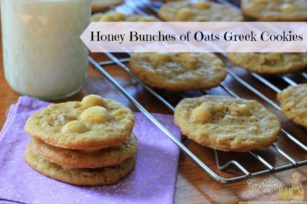 Honey Bunches of Oats Greek Cookies #HoneyBunchesGreek #spon