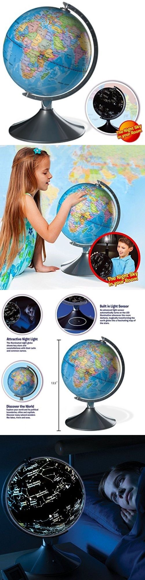 Geography and History 11733: Interactive Globe For Kids, 2 In 1, Day View World Globe And Night View Map -> BUY IT NOW ONLY: $83.95 on eBay!