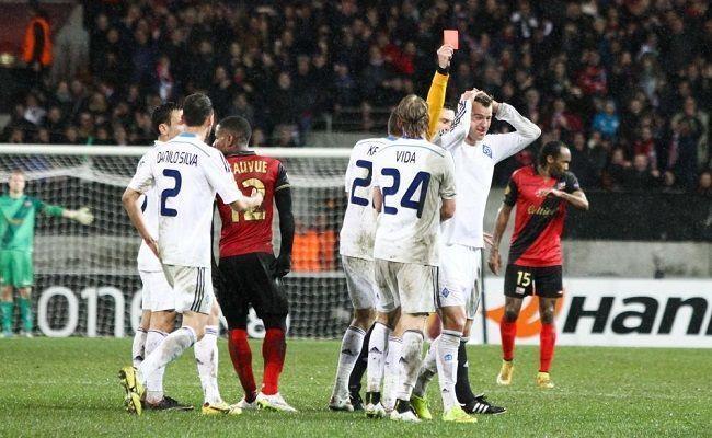 Andrij Yarmolenko i Younes Belhanda dopuścili się brutalnych fauli • Guingamp vs Dynamo Kijów • Wejdź i zobacz za co dostali kartki >>