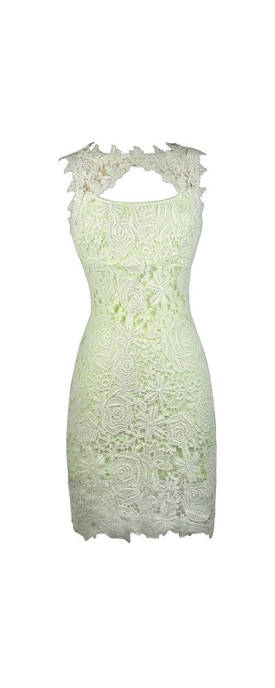 Lily Boutique Mallory High Neck Cutout Lace Pencil Dress in Lime, $38 Cute Lace Dress, Lime Green Lace Dress, Cute Summer Dress, Neon Green Lace Dress www.lilyboutique.com