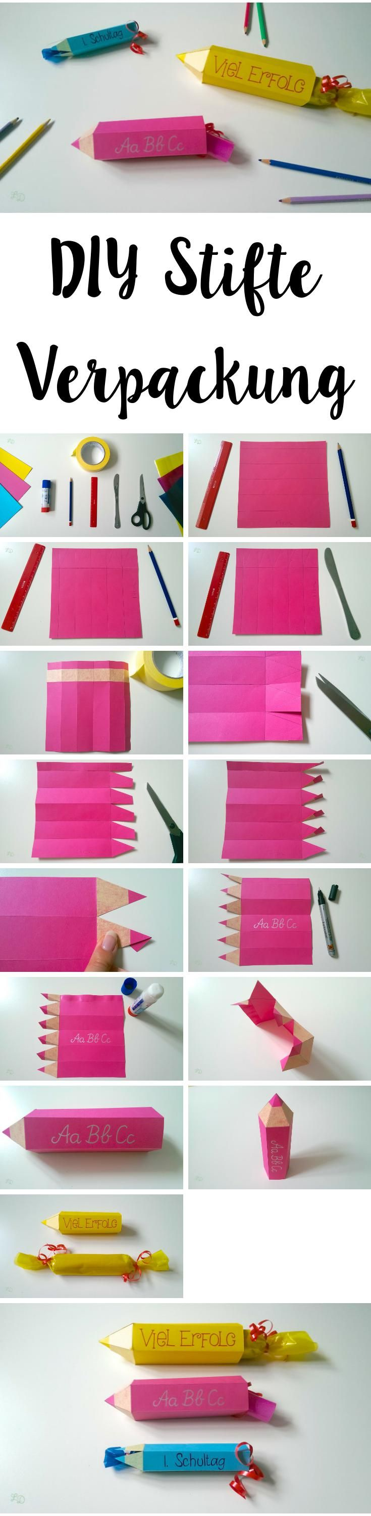 DIY Stifte Verpackung für die Schule | DIY Pencil Gift Wrapping